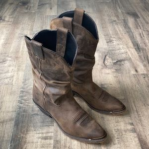 """Double H 11"""" Slouch Boots Size 9.5"""